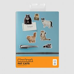 fat cat fridge magnets - funny online stationery