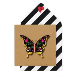 gypsy rose butterly - funky colours - tache cards online