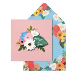 get well soon cards online - vintage florals