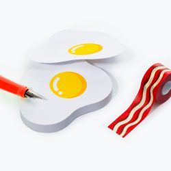 different and quirky shaped sticky notes - fry up stationery - online stationers