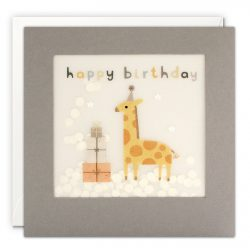 cute and natural giraffe birthday cards - independant designer cards