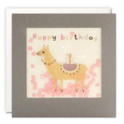 happy llama birthday cards - james ellis online shop