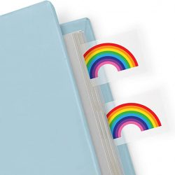 rainbow themed stationery - page tabs - Mustard stationery at the costume rooms