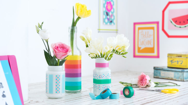 what is washi tape for - what crafts can I use washi tape for - decorating jam jars