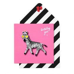 funky online cards - pink zebra