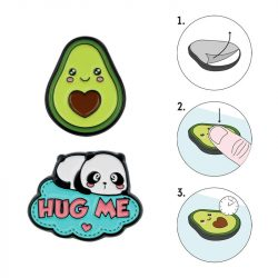 Is tehre such a thing as metal stickers for phones - avocado and panda kawaii