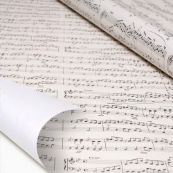 Musical score and note wrapping paper - online original wrapping paper