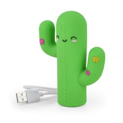 super cute cactus power bank - phone chargers and accessories - cool stationery shops online