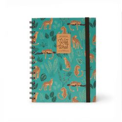 super cool cheetah designed notebook - A5 ringbound and lined notebooks