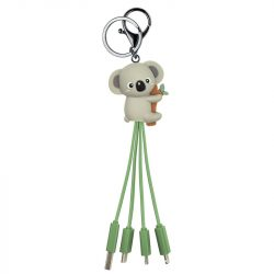 keyring mutliple charging cables - koala design - phone tech accessories
