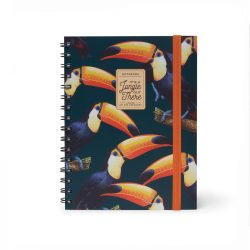 seriously tropical toucan A5 lined notebook - bude shops online