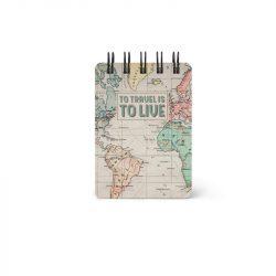 map range of notebooks - small handbag pocket size