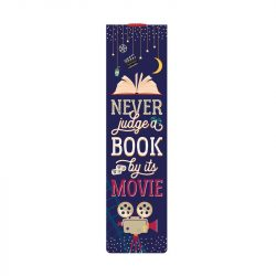 fun bookish bookmarks - dont' judge a book by its movie bookmark by Legami