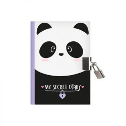 Cute panda secret diary with padlock - panda stationery gift ideas