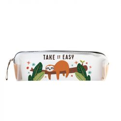 Take it easy sloth pencil case - UK stockists of Legami