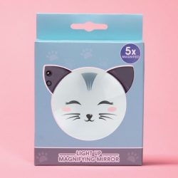 magnifying make up mirror for your bag - kawaii cat gifts
