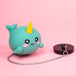 cute bath toys - narwhal floating plug