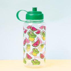 large childrens drinking bottles - kawaii cactus and watermelon design
