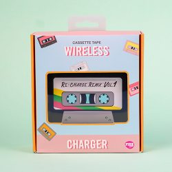 Vintage cassette tapes wirelss chargers - fun phone accessories and tech - The Costume rooms