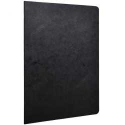 fake leathery paper covered notebooks - Clairefontained notebook A4 slim notebook stapled and line or plain