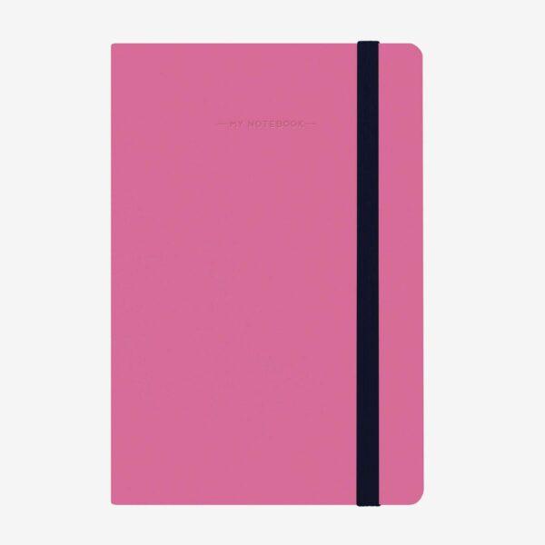 magenta medium notebooks - plain notebooks - legami UK stockists