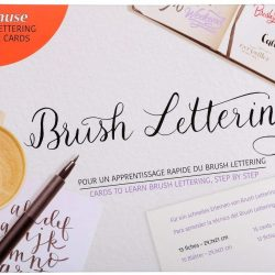 Learn Funky modern calligraphy with brush lettering by Brause and Herbin