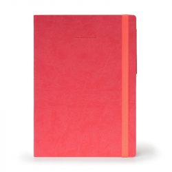 my notebook - coral pink large and plain papered deisgn
