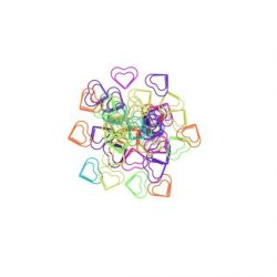 cute and colourful heart paper clips - I want fun and heart shaped stationery