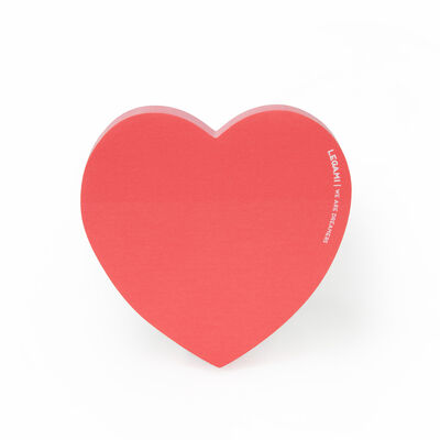 I just want a pack of red hearts shaped sticky notes - sticky notes at The Costume Rooms