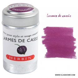 warm pinky purpl ink cartrdiges - I want to write in a beautiful colour - herbin ink cartridges online