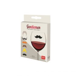 moustache party ideas - glass or drink markers in the form of silicone stickers
