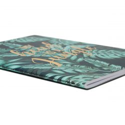 jungle leaf pattern notebook - slim and LINED - the costume rooms stationery shop