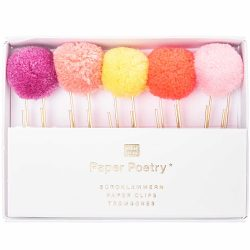 neon pompom paper clips - paper poetry stockists in cornwall - The costume rooms