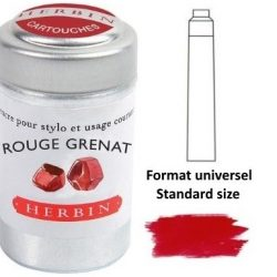 rustic red ink cartridges by herbin - stationery shop online The Costume Rooms
