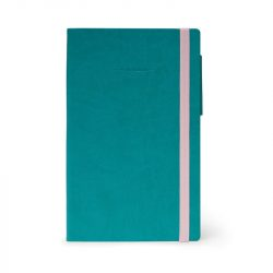 teal notebooks with dotted pages or lined an dplain - my notebook range by legami