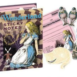 Alice in Wonderland Stationery and gift ideas - sticky notes pack