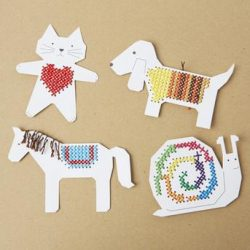 embroidery ideas for children - how to use up old embroidery threads -rico designs stockists