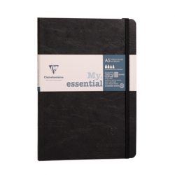 black lined basic but good notebooks - thicker paper so pens don't show through