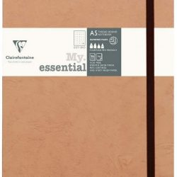 age bag my essentials beige A5 notebook - dotted page or bullet journals.
