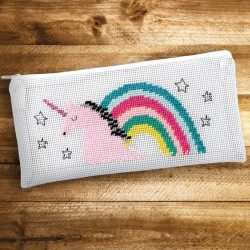 unicorn embroidery pencil case by Rico Designs at The Costume Rooms
