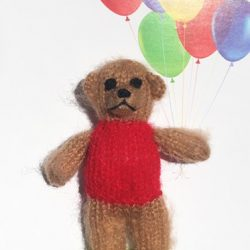 balloon teddy birthday card - can you get cards that have finger puppets