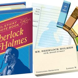 sherlock holmes sticky notes and page tabs pack - the costume rooms in bude