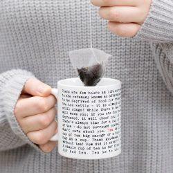 tea lover words mug - tea gifts at the cornwall UK