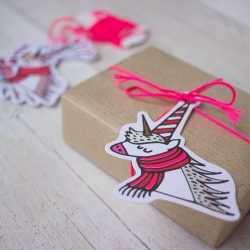 I'm looking for a Christmas pink unicorn wrapping and christmas theme for this years chirstmas