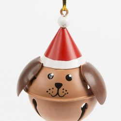 brown dog puppy christmas tree decorations - the costume rooms in bude
