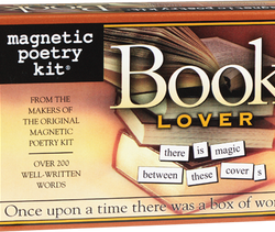 magnetic words for the fridge taken from famous novels - booklover magnetic poetry kit UK stockist