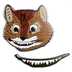can you get a badge or pin tat has the cheshire cat from alice in wonderland and his grin - the costume rooms