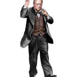 churchill character card with quotes - unemployed philosophers guild UK stockists