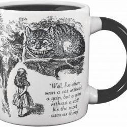 alice in wonderland cat mug - not the disney cartoon version