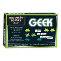 GEEK magnetic poetry kits - clever words for the fridge